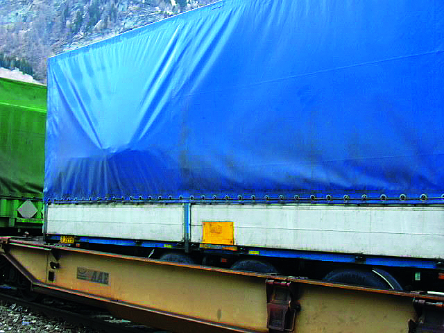 Cargo in the tarpaulin